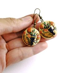 Polymer Clay Fairy Bead Dangle and Drop Earrings by RockyBeads