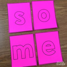 Sight word activity - build the sight word using letter cards Teaching Sight Words, Sight Words List, First Grade Sight Words, Sight Word Practice, Sight Word Games, Sight Word Activities, Kindergarten Special Education, Kindergarten Literacy, Literacy Stations