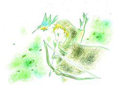 「デュナと緑の王子」 デュナとカワセミ