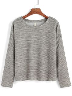 Round Neck Striped Loose T-shirt 8.90