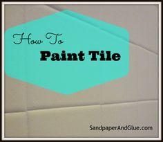 paint tile, how to paint tile