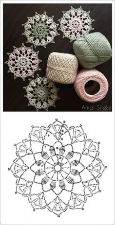64 Mini Carpetas circulares en crochet (Patrones) Knitting TechniquesCrochet For BeginnersCrochet PatronesCrochet Stitches Crochet Snowflake Pattern, Crochet Snowflakes, Crochet Doily Patterns, Crochet Chart, Crochet Squares, Thread Crochet, Filet Crochet, Crochet Doilies, Crochet Flowers