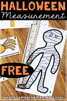 Have some fun measuring a variety of Halloween creatures with this FREE Halloween Measurement Math Resource. It makes a great math center during the month of October and reinforces centimeter and inch measurement processes. #measurement #halloweenmath #math #measuringwitharuler #halloweenfun #freemathresources Measurement Activities, Math Measurement, Math Activities, Math Games, Measurement Kindergarten, Math Fractions, Learning Games, Halloween Math, Halloween Activities