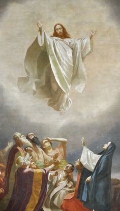 May is the Feast of the Ascension of Our Lord and Saviour Jesus Christ, also known as Ascension Thursday, Holy Thursday, or Ascension Day. It commemorates the bodily Ascension of Jesus into. Pictures Of Jesus Christ, Religious Pictures, Catholic Art, Religious Art, Catholic Daily, Catholic Catechism, Spiritual Tattoo, Ascension Day, Christian Art