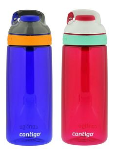 Contigo Autoseal Courtney Kids Water Bottle, 20oz, Sapphire  Sangria (2 Pack) ** Want additional info? Click on the image.