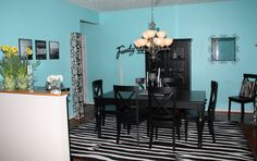 Tiffany Blue Dining Room- Before & After