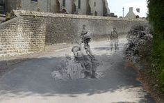 Saint-Marcouf, France | 9 Haunting Then-And-Now Photos Of World War II Europe -- created by Jo Teuwisse