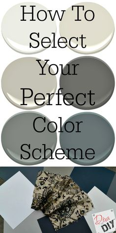 Choosing the perfect color scheme for your home can be a daunting task. Create a color scheme for you entire home with the perfect inspiration piece! Interior Paint Colors, Paint Colors For Home, House Colors, Home Interior Design, Wood Home Decor, Diy Home Decor, Paint Color Schemes, Shabby Chic Homes, Color Pallets