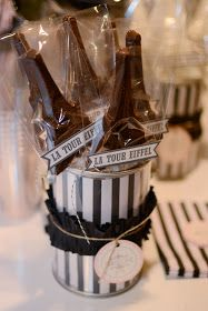 Eiffel Tower chocolates on a stick for a Parisian themed event