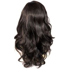 Wonderful wavy Long dark Brown Curly Heat Resistant Ladies Wigs Hair... ($32) ❤ liked on Polyvore