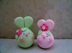 Bunny Pair - Easter Figurines