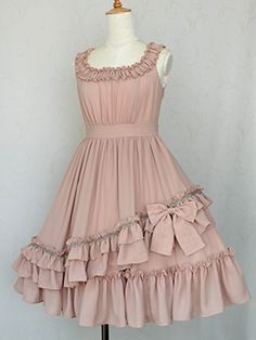Victorian maiden - Fairy Gather Ribbon Dress. Would look lovely with the dusty rose parasol!