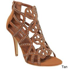 FOREVER KARLY-04 Women's New Hot Fashion Stiletto Heel Sandals, Color:TAN…