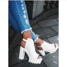 Do you like chunky heels??? Check out our new shoe arrivals! Www.iwearred.com