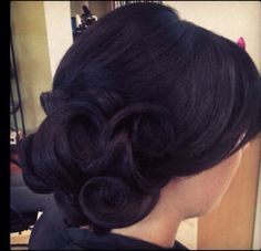 Updo bridal hair, classic look
