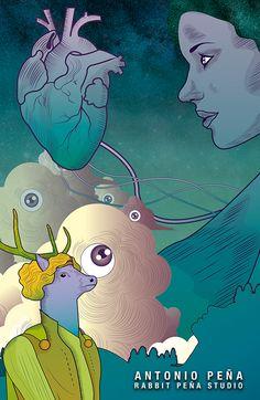 """Espectador"" Ilustración por : Antonio Peña / Rabbit Peña Studio Illustration  #illustration #design #art"