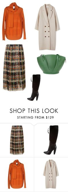 """plaid pleated skirt"" by matriniente on Polyvore featuring Blumarine, COSTUME NATIONAL, Twin-Set and Louis Vuitton"