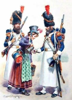 Coffee or wine?   French Guard Grenadier sappers.