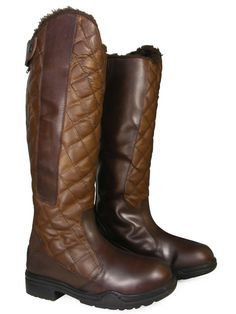 Ladies-Mens-Horse-Riding-Fur-Lined-Yard-Country-Walking-Tall-Leather-Boots-NEW