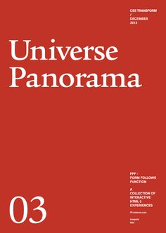 Form Follows Function - Universe Panorama