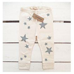Estrellas -  leggings organico estampado a mano