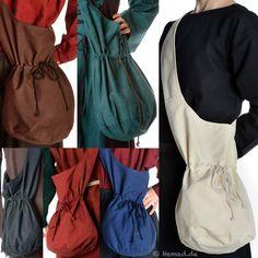 Medieval Bags big darkred-brown-green-black-offwhite
