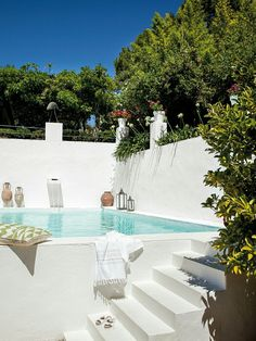 Mediterranean inspired plunge pool.