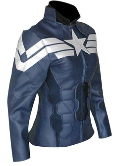 a7ffb793ac Amazon.com  Captain America Women Winter Soldier Faux Costume Jacket   Clothing My Girl