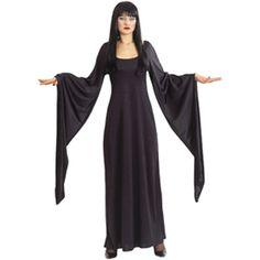 vestido de terciopelo con mangas largas.