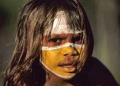 Aboriginal girl in Australia