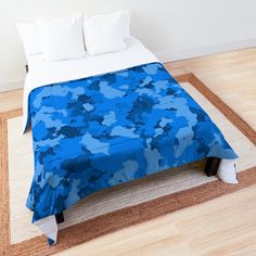 'Blue Camo design' Comforter by MidnightBrain Blue Comforter, Duvet Bedding, Air Force Blue, Camo Designs, Blue Camo, Make Your Bed, College Dorm Bedding, Square Quilt, Bed Covers