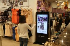 Virtual dressing room uses Kinect and augmented reality, makes shopping even easier Virtual Dressing Room, Dressing Rooms, Room Screen, Digital Signage, Digital Marketing Strategy, Healthy People 2020 Goals, Customer Experience, Retail Experience, Vintage Design