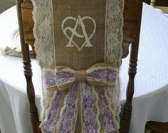 These burlap bows and perfect to dress up you chair covers! They are easy to assemble.  Tails are 16 inches long and the bow is 12 inches. The burlap is between 3.5 to 4 inches wide.  I will do a deal for large quantities.  Just let me know how many and I will make you a custom listing.