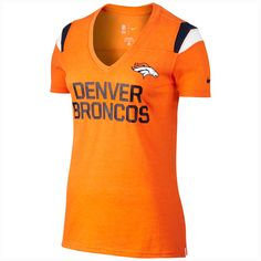 Denver Broncos Women's Fan V-neck Nfl T-shirt