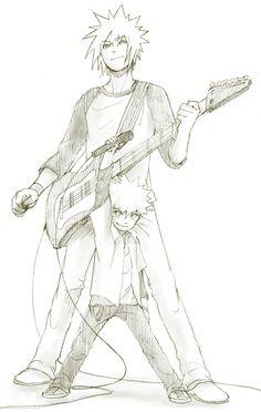Minato and Naruto . The rocking father-son duo Neji E Tenten, Sasuke X Naruto, Naruto Cute, Naruto Shippuden Sasuke, Narusasu, Anime Naruto, Naruto Fan Art, Manga Anime, Naruhina