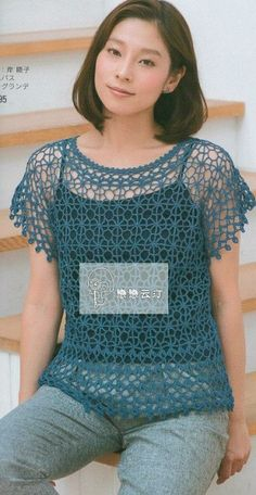 Crochet woman's top