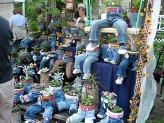 "Pants and shoes for your flowerpots, lol, how silly! TYWKIWDBI (""Tai-Wiki-Widbee""): Covers for potted plants"