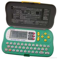 Casio My Magic Diary. I had one of these. My password was sure to be something uber dumb.