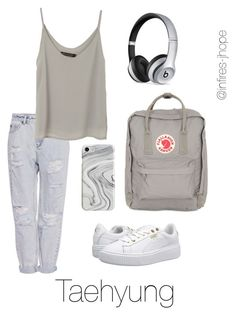 Grey Outfit with Taehyung by infires-jhope