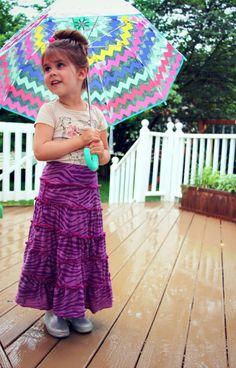 children's tiered knit maxi skirt tutorial::by Little Pink Monster