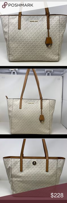 0c5776a96a2c Michael Kors Rivington Extra-Large Tote Vanilla Feel some designer love  with the MICHAEL Michael