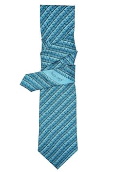 Greca Mitla Diagonal Aqua