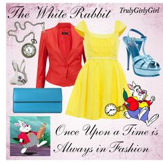 Disney Style: The White Rabbit, created by trulygirlygirl on Polyvore