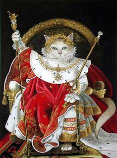Versão de Susan Herbert para o quadro de Ingres de 1806: Napoleão I em seu Trono Imperial