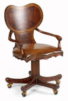 Shop for Jonathan Charles George I Style Adjustable Desk Chair (Mahogany), and other Home Office Chairs at Furniture Galleries in Butler, PA - Pennsylvania.