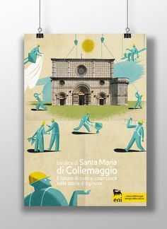 Eni poster for Basilica di Collemaggio on Behance