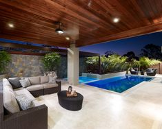 Having a pool sounds awesome especially if you are working with the best backyard pool landscaping ideas there is. How you design a proper backyard with a pool matters. Indoor Outdoor Living, Outdoor Areas, Outdoor Rooms, Swimming Pool Designs, Swimming Pools, Backyard Patio, Patio Wall, New Homes, House Design