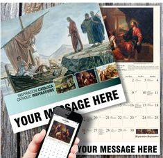 2021 Spanish-English Catholic Art Calendars - low as Fundraising or Business Promotion. Calendar Themes, Calendar App, School Calendar, Calendar Design, Catholic Art, Religious Art, Business Calendar, Free Calendar Template, Time Icon