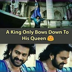 Bahubali has set up our expectations so high for a life partner that it's not even possible to find such man in real life. Love Quates, Love Wife, Well Said Quotes, True Love Quotes, Wife Quotes, Couple Quotes, Prabhas And Anushka, Filmy Quotes, Prabhas Pics