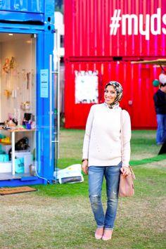 HH Style Guide: Chunky Sweater + Neutrals at Market OTB Dubai http://www.hautehijab.com/blogs/hijab-fashion/17548113-hh-style-guide-chunky-sweater-neutrals-at-market-otb-dubai